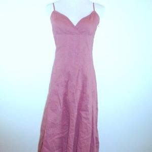 ELIE TAHARI SUMMER SPAGHETTI  STRAP LINEN DRESS 8